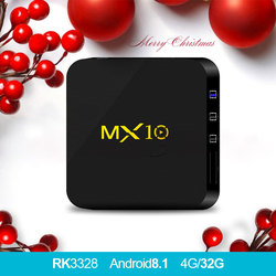 MX10 Android 8.1tv box 4GB DDR4 32GB eMMC RK3328 Quad Core 17.4 4K HDR 2.4GHz WIFI USB 3.0 Smart Set Top Box PK x92