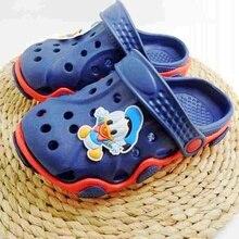 НОВОЕ Прибытие Молодежи Мальчиков/Девочек Мода Летние Сандалии Пляжные Сабо Крокодил Fit чистка подвески/Флип-Флоп Тапочки ЕВА обувь(China (Mainland))