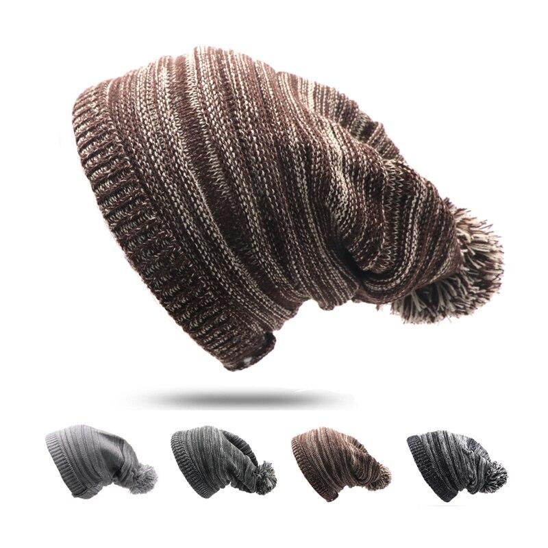 1pcs Bonnet Beanies Knitted Winter Hat Caps Pompon Skullies Beanie Hats For Women Men Warm Headgear Gorros Unisex Knitting Hat
