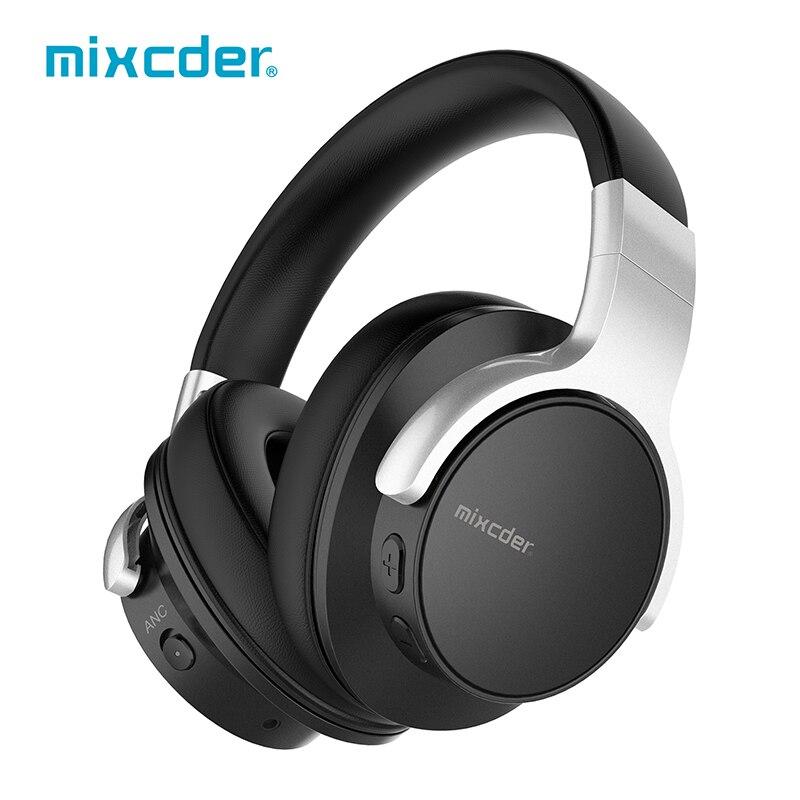 Mixcder E7 casque anti-bruit actif sans fil Bluetooth avec micro casque stéréo Hi-Fi casque de basse profonde sur l'oreille