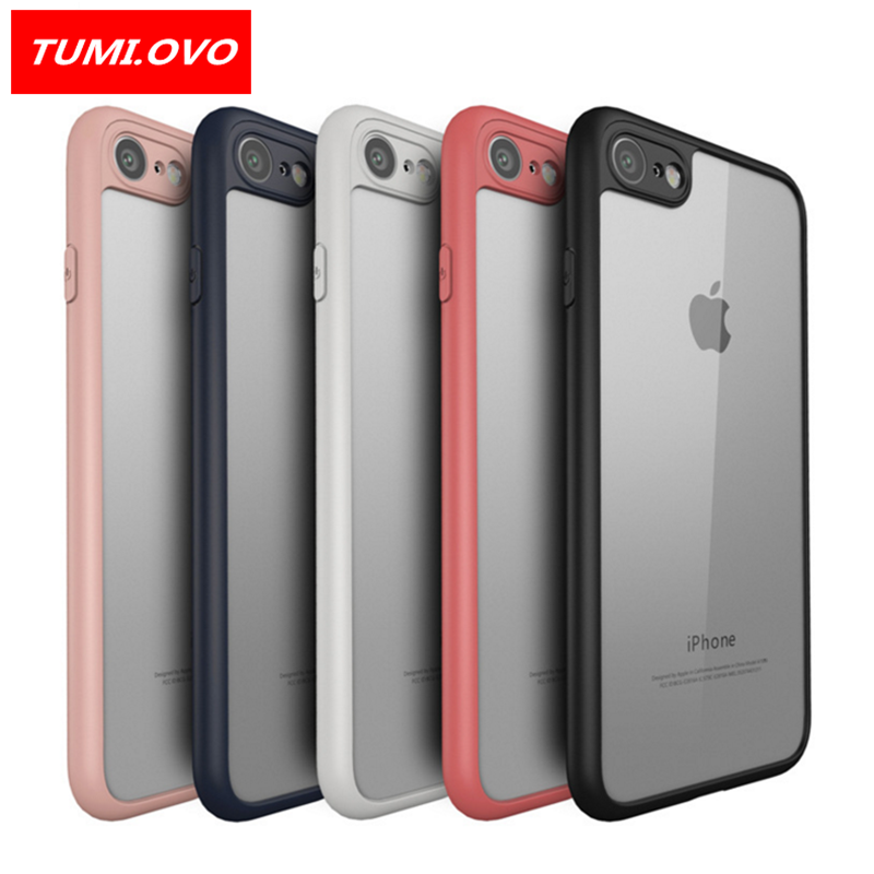 the best attitude 97b28 17dc1 US $2.39 20% OFF|TUMI.OVO Slim Case for iPhone 8 7 6 6S Plus 5 5S 5SE X  Full Protective PC & TPU Silicone Cover Coque Transparent Back Cases-in  Fitted ...