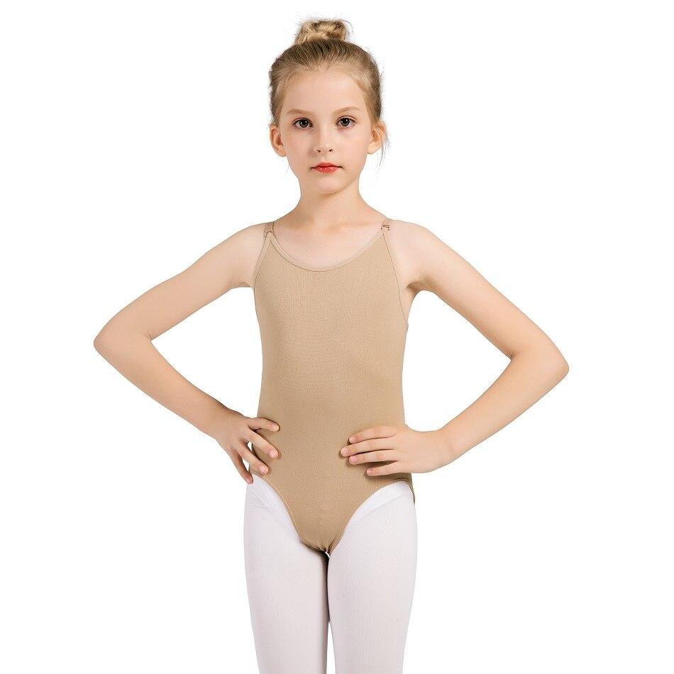 Show details for Girls Dance Ballet Underwear Undergarment Women's Seamless Nude Leotard With Clear Adjustable Straps