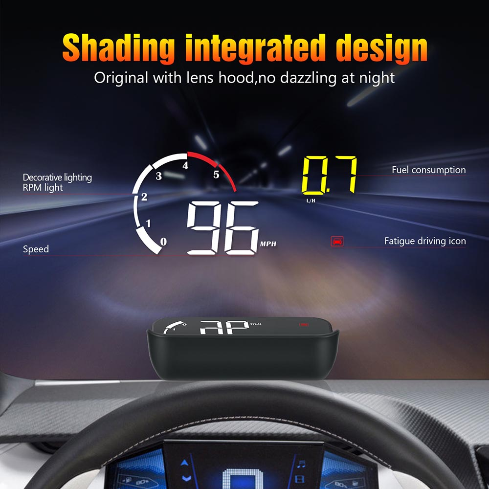 Car OBD2 HUD Head Up Display Digital Speedometer Windshield Projector Reader Engine RPM Fault Code Water Temperature 5 in Head up Display from Automobiles Motorcycles