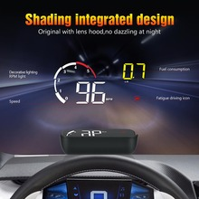 Car OBD2 HUD Head Up Display Digital Speedometer Windshield Projector Reader Engine RPM Fault Code Water Temperature 5 a8 car hud head up display car speedometer 5 5 inch windscreen projector obd2 code reader speed alarm voltage mph km h display