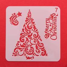 DIY рождественское ручное творчество полые многослойные трафареты для настенной живописи Скрапбукинг штамп альбом креативная декоративная тисненая картонная открытка