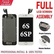 Display para iphone 6s plus 6sp, conjunto completo de tela lcd, montagem display 3d, touch digitalizador, substituição + câmera frontal e dianteira