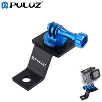 PULUZ For Go Pro Mount Aluminum Alloy Motorcycle Fixed Holder Mount+Tripod Adapter&Screw For GoPro