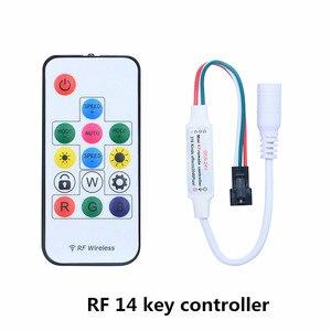 Image 3 - מיני RF 3key 14key 21key קטן מיני led פיקסל הרצועה SK6812 אור controller עבור WS2811 WS2812B 6803 1903 עם שלט בקר