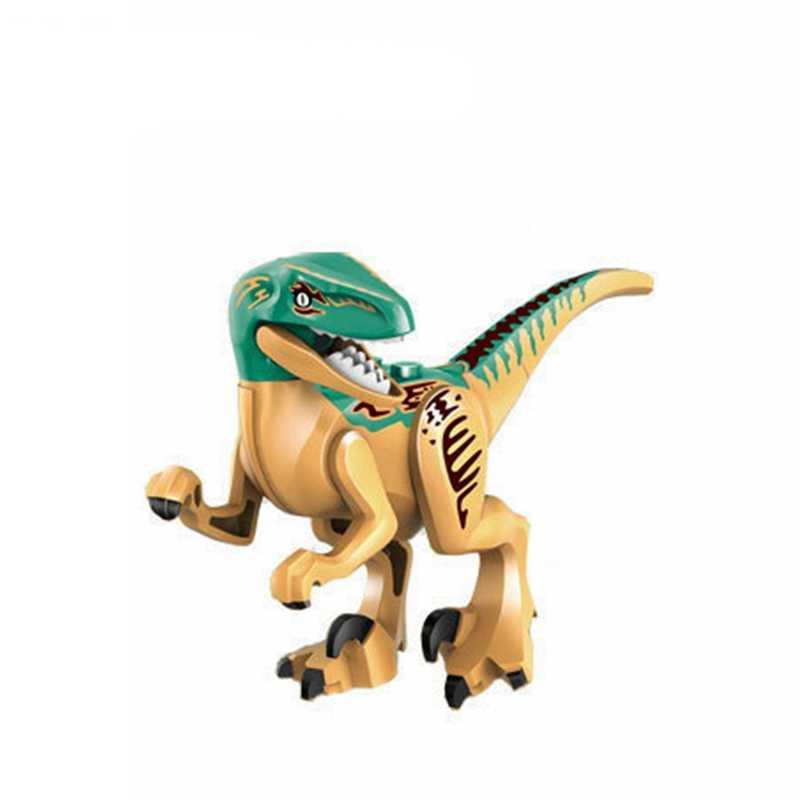 LegoingJurassic Dinossauros Tiranossauro Rex Blocos de Construção de Brinquedos Para As Crianças Montar Dinossauro Triceratops Pterosauria Legoing