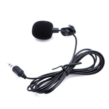 1 PC 3.5mm Pop Hands Free Clip On Mini Lapel Mic Microphone New hot high quality special black hands free clip on 3 5mm mini studio speech microphone