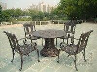 5 часть Best продажи литой алюминиевый стол и стул мебель садовая мебель морской транспорт