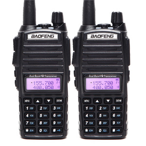 Image 2 - 2PCS BaoFeng UV 82 5w Walkie Talkie Dual Band VHF/UHF Two Way Radio Double PTT Portable Radio Amateur Radio BAOFENG UV82+Headset