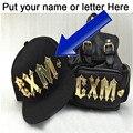 Free Custom Acrylics Snapbacks Hats Adult  Hip Hop Golden Irish Acrylic Hats 3D Letter Baseball DIY Sun Cap Retail Cap