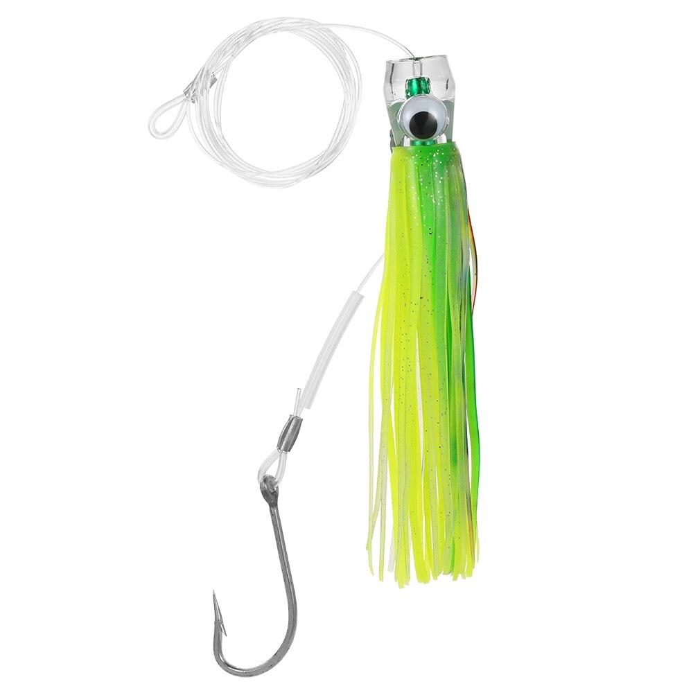 6 pièces 16.5 cm leurres de pêche carpe poussoir de pêche Style Marlin acrylique pieuvre traîne jupe leurres avec sac Pesca