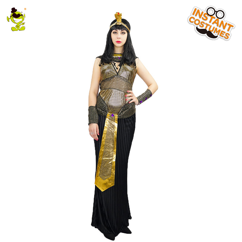 New Ladies Sexy Egyptian Queen Costume Women's Charming Cosplay Carnival Fancy Dress Stunning Outfits Exotic Egypt Costumes