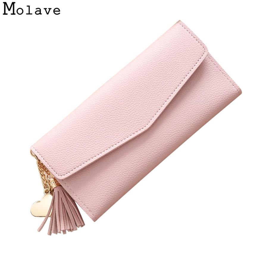 Naivety PU Leather Long Wallet Solid Tassel Metal Pendant Wallets Female Organizer Coin Purse Bag 30S71205 drop shipping