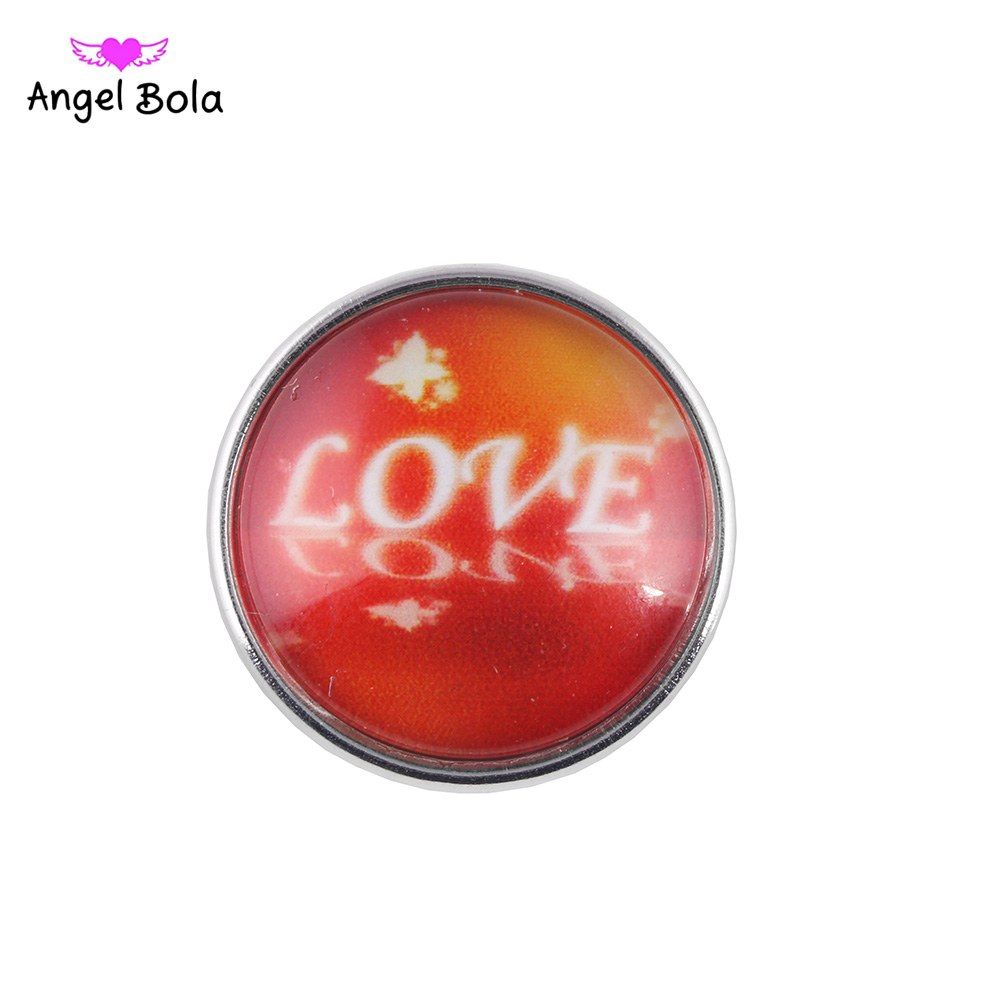 12PCS/LOT Fashion Ginger Snap Button Charms Round Shell 18mm Snap Buttons for DIY Snap Button Jewelry NS002-112 Free Shipping