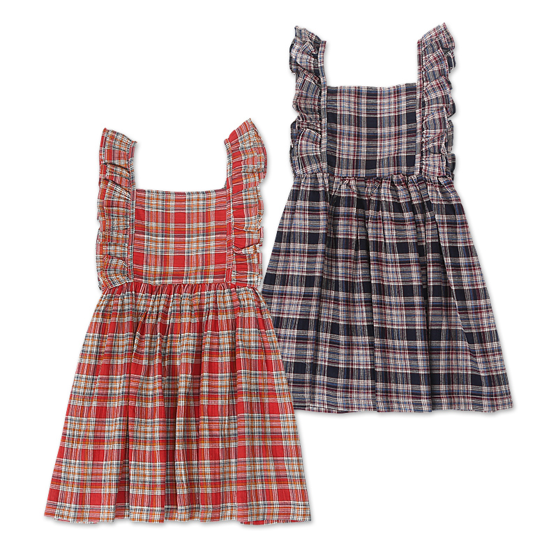 2018 summer baby girl dress fashion cute plaid toddler kids dresses for girls ruffles long sleeve cotton princess dress vestido fashion cotton girls dress stripe belt 2pcs kids dresses for girls black long new year costumes for kids for2 7t baby girl