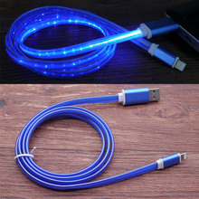 Течёт светодиодный светящийся USB кабель-удлинитель мини-usb кабель для зарядки данных синхронизировать мобильный телефон кабели для тип-c Android для Xiaomi huawei