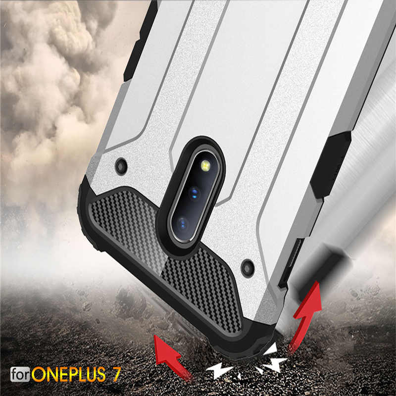 Strong Hybrid Tough Shockproof Armor Phone Back Case For OnePlus 7 1+7 Pro 1+6T One Plus 6 1+5T Hard Rugged Impact Cover Fundas