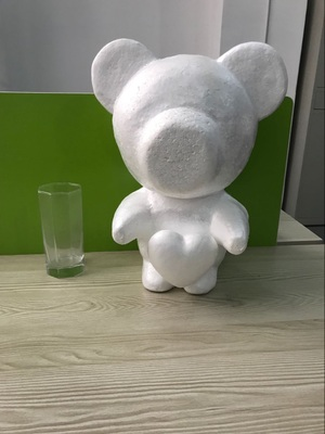 1pcs 35cm Standing-heart Foam Bear Model Polystyrene Styrofoam Teddy Rose Bear White Craft Balls For DIY Christmas Party Gifts