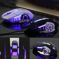 new arrival DSstyles 2019 New Arrival Ergonomic Pro Wired Mouse LED Light 4000DPI Optical USB Gamer Gaming Mouse Free Shipping (1)