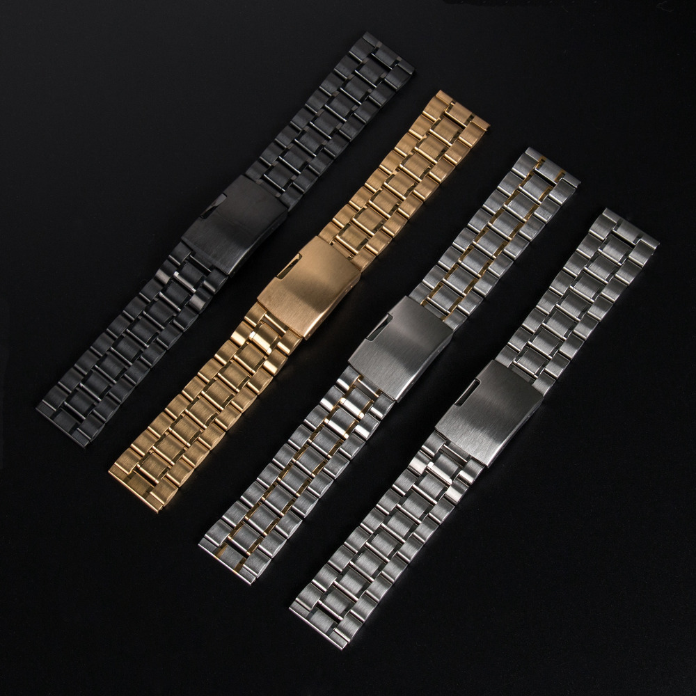 Stainless Steel Strap Watchband for Pebble Smartwatch for Samsung Galaxy Gear 2 SM R380 for MOTO
