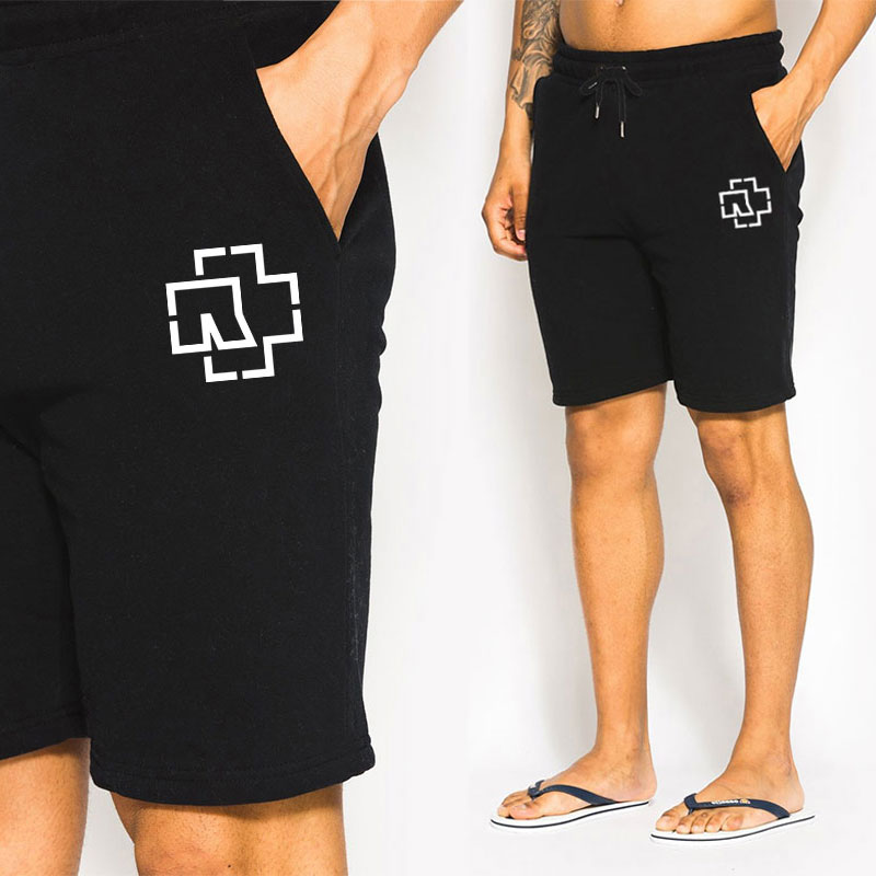 Men Rammstein Printed   Short   Pants Sport   Shorts   Cotton Running Pants