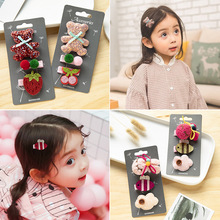 3pcs/set Flower Bow Hairpins Handmade Princess Gift Barrettes Children Headwear Hair Accessories Cute Kids Hair Clips For Girls