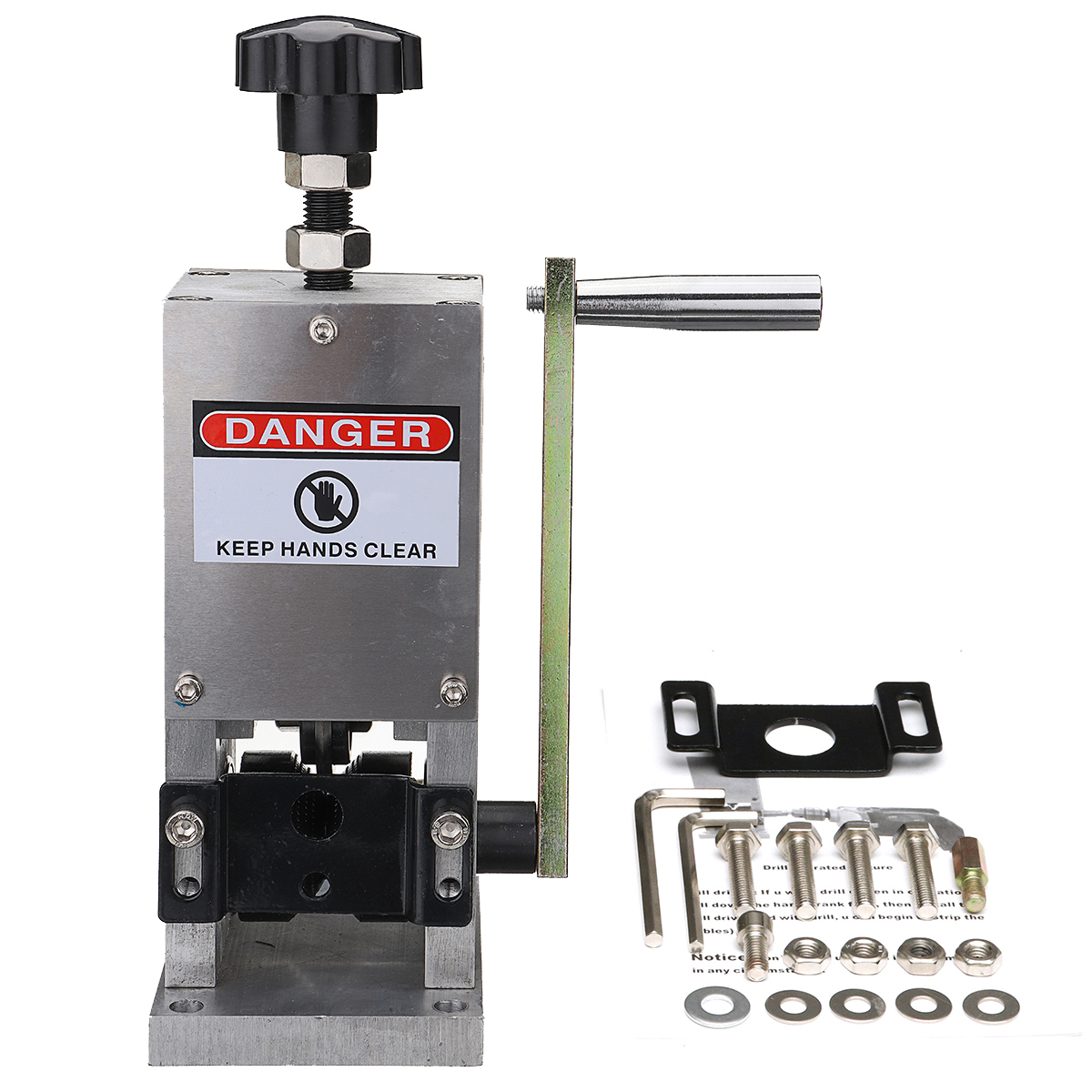 1Set Manual Wire Cable crimping machine and peeling Machine For metal Wire Recycle Wire Cable Stripper Stripping eco cable stripper wire stripping machine copper recycle 1 5mm 25mm