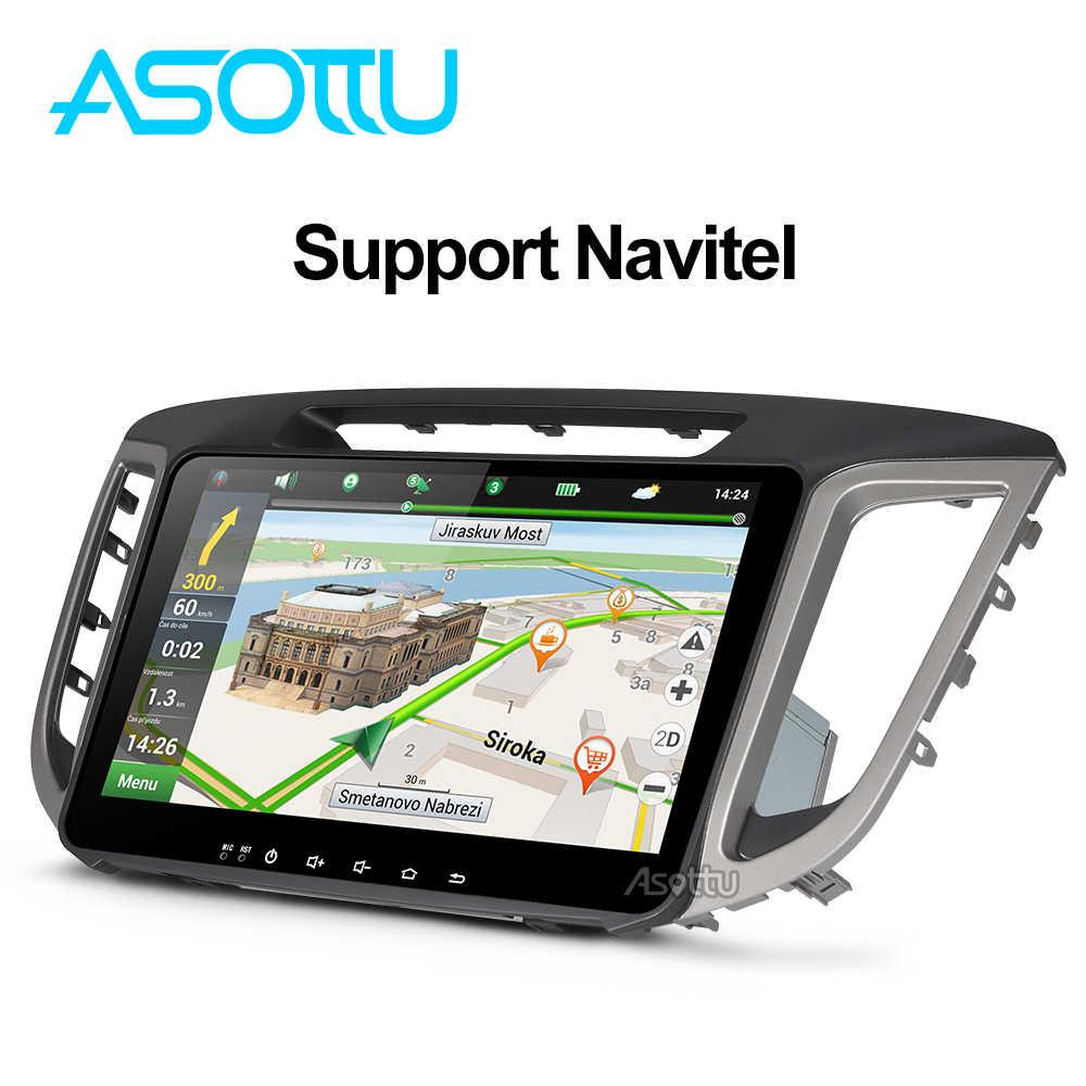 Asottu CIX251060 2G android 8.1 car navigation dvd player 1024*600 For HYUNDAI IX25 CRETA  gps stereo car multimedia player dvd