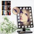 Cosméticos de Maquillaje Iluminado espejo De Maquillaje Escritorio Espejo de Pie con 21 LED de Luz