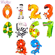 FENGRISE 1pc Animal Balloons Jungle Safari Party Baloons Jungle Party Decorations Foil Animal Ballon Birthday Party Decor Kids