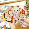 Бесплатные корабль! 1 лот = 100 шт.! Творческий мультфильм cat Открытка/праздничные открытки/поздравительные открытки/сообщение визитная карточка