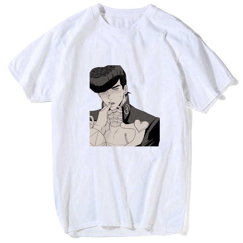 조조 기묘한 모험 t 셔츠 크리 에이 티브 디자인 참신 티셔츠 캐주얼 스타일 스케이트 브랜드 남자 탑 티 만화 만화 멋진 재밌는 셔츠