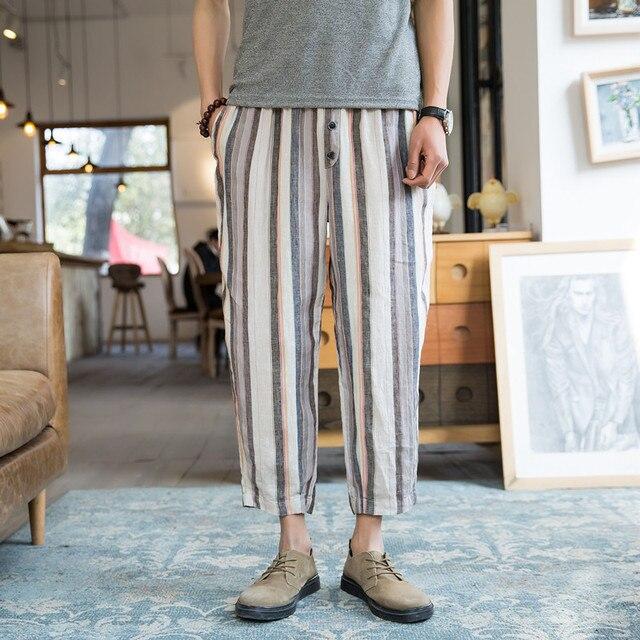 Autumn Calf Length Men Baggy Pants  2