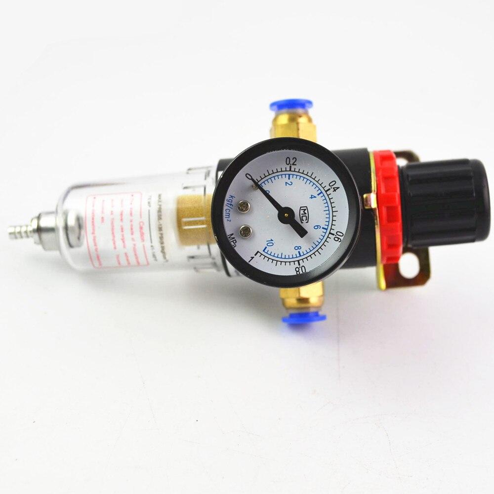 AFR2000 Luftdruck Regler Wasser Separator Falle Filter Airbrush Kompressor mit 8mm Armaturen