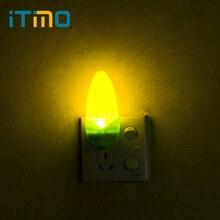 iTimo Light Sensor LED Night Light Corn Shape EU Plug Bedside Lamp Home Decoration Romantic Atmosphere Lamp Kids Children Gift