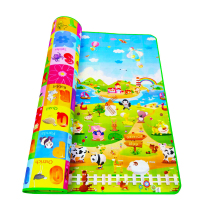 200 180cm Baby Crawling Mat Baby Play Mat Fruit Letters Farm Baby Carpet Developing Mat For