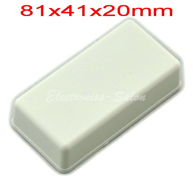 Small Desk-top Plastic Enclosure Box Case,White, 81x41x20mm,  HIGH QUALITY.