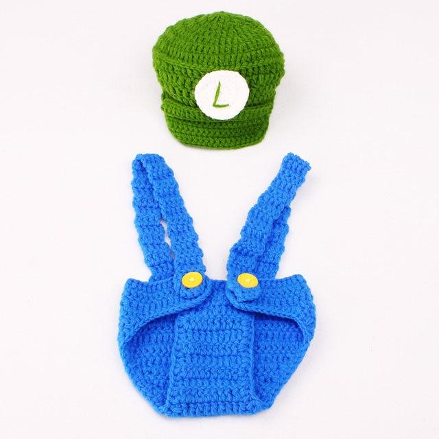 Tienda Online Crochet bebé recién nacido Photo props Super Mario y ...