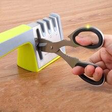 Cuatro Etapas Cocina Afilador de cuchillos, tijeras Cuchillo Hogar Cuchillo Afilador Piedra de Afilar de Cocina Herramientas