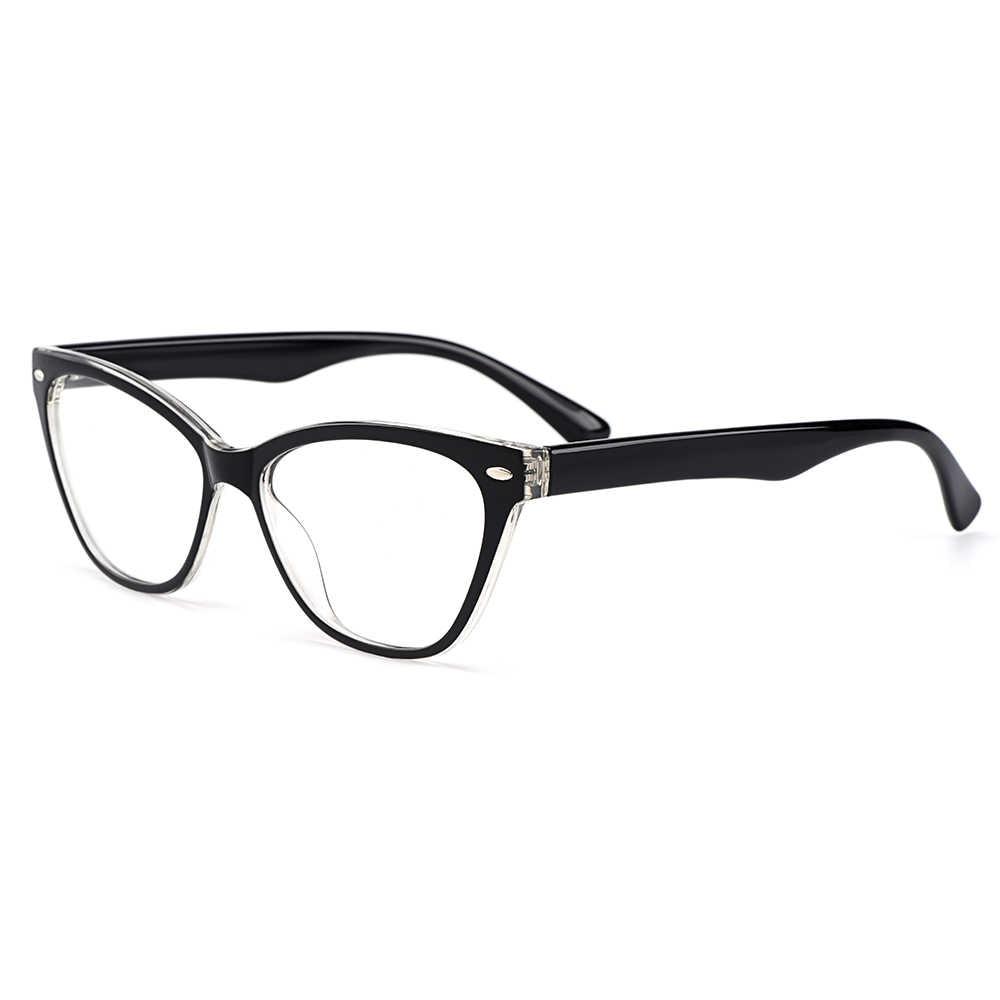 Gmei Optik Baru Urltra-Light TR90 Wanita Mata Kucing Gaya Optik Kacamata Bingkai Plastik Miopia Presbyopia Kacamata M1244