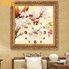 5D DIY Diamond Painting Cross Stitch Magnolia Flower Wall Clock Painting Rhinestones Mosaic European Style Diamond