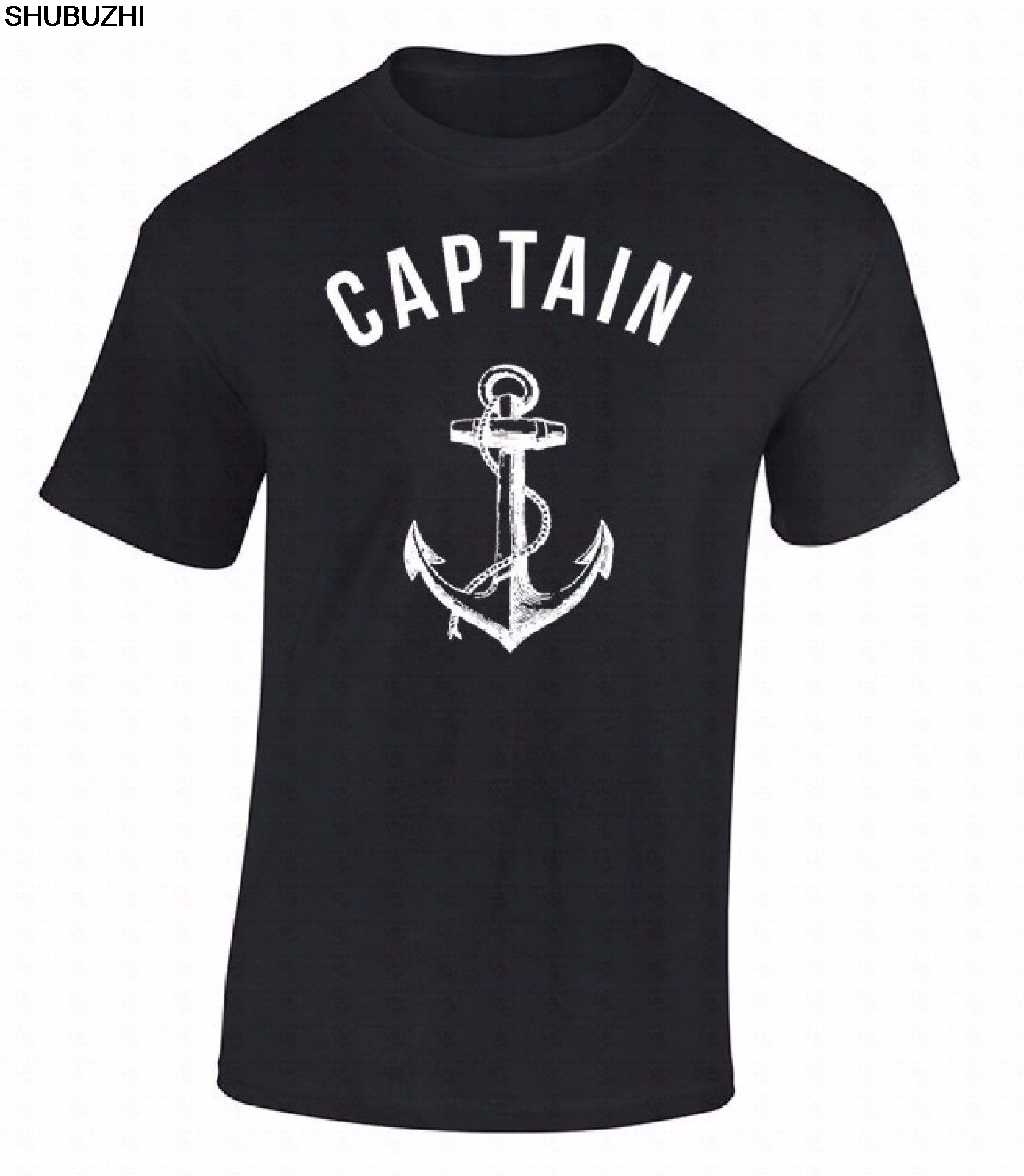 High Quality T-shirt Captain T-shirt Anchor Nautical Sea Sailor Ship Marine Fashion Cool Gift Shirt sbz6240