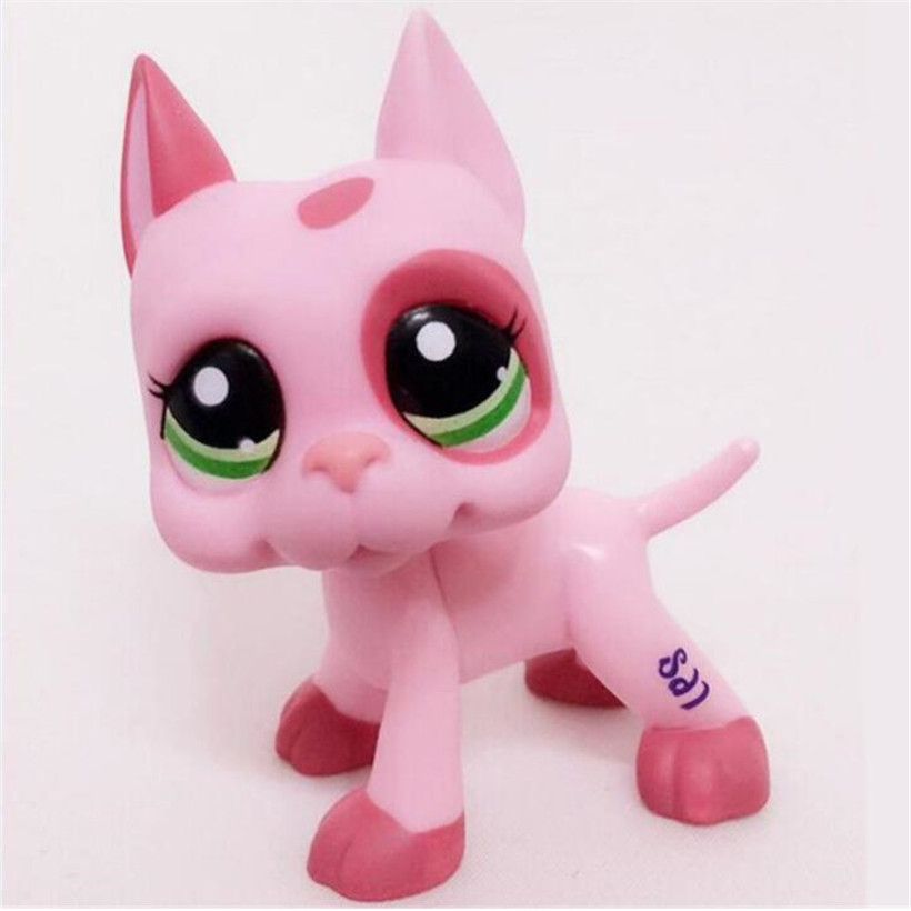 LPS Pet Shop Cute Anime PVC Brown Pink White Dog Star Eyes Rare Collections Figure Toys Action Figure Hot Toys For Children pet shop lps toys great dane dog 577 blue brown flowered eyes white puppy figure child toy without magnet dog gift