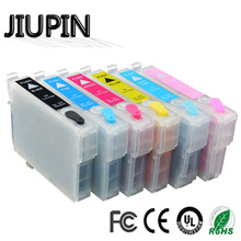 New 85N T0851- T0856 T0851N Refillable Ink Cartridge For Epson Stylus Photo 1390 T60 Printer With Chips