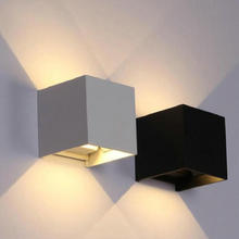 Adjustable Wall Lamps 14W Outdoor LED Wall Sconce Waterproof Modern LED Wall Light Warm White COB LED Wall Mounted Lamp