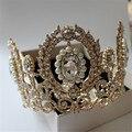 White rose bride wedding dress cloth flower crown wreath headdress headdress flower hair accessories studio