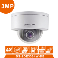 Оригинальный DS 2DE3304W DE мини ptz камера 3MP 4X 2,8 12 мм зум объектив ip камера наблюдения камера видеонаблюдения поддержка ezviz удаленного просмотра